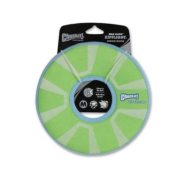 CHUCKIT Zipflight Max Glow Fetch Toy 1