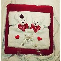 Handtuchfigur Hochzeitspaar im Bett
