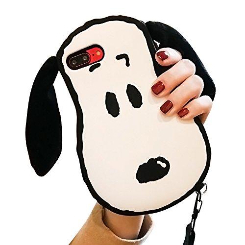 Fall für iPhone 7+ iPhone 7plus 8PLUS Größe 14cm Bildschirm Weich Silikon Gel Gummi 3D Cartoon stoßfest Schutz Cool Fun Bold Cute Fashion Hot Geschenk Mädchen Teens Kinder, Snoopy