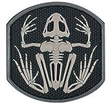 Fansport Parche de Esqueleto de Rana Parche de PVC Parche de Moral para Sombrero Uniforme de...