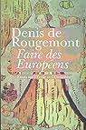 Faire des Européens par Rougemont