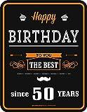 50er Geburtstag Happy Birthday Alu Schild Alu Flach Neu 17x22cm VR183