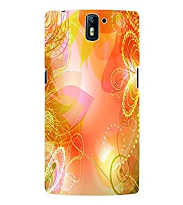 Fuson 3D Printed Floral Pattern Designer Back Case Cover for OnePlus One - D931