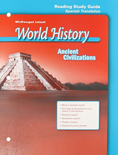 World History, Grade 6 Ancient Civilizations Reading Study Guide: Mcdougal Littell Middle School World History par Holt Mcdougal