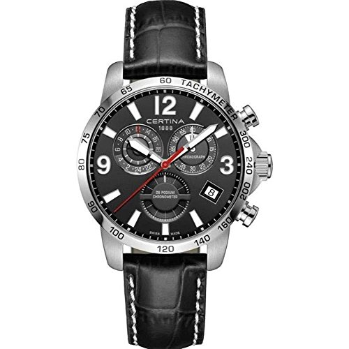 Certina DS Podium GMT Herren-Armbanduhr 42mm Leder Batterie C034.654.16.057.00