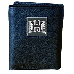 Hawaii Warriors Genuine Leather Tri-fold Wallet