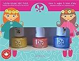 SUNCOAT GIRL Egg-Spiration Kit de 3 Vernis à Ongles à l'Eau pour Enfant