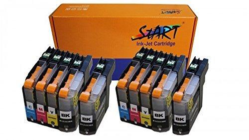 10 XL Tintenpatronen kompatibel zu Brother LC-223 LC-225 LC-227 XL - Ab Firmware Version F (G/H/I/etc.) - Druckerpatronen mit hoher Reichweite - BK Schwarz, C Cyan, M Magenta, Y Gelb
