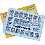 JasCherry 18 Piece Metal Wire Puzzles Magic Metal Brain Teaser Puzzle Set - Ideal IQ Test Mind Game and Classic Educational Intelligence Toy for Adults and Kids