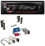 Pioneer DEH-S4000BT AUX Bluetooth MP3 USB CD Autoradio für Audi A2 A3 8L A4 B5 A6 C5 Aktivsystem