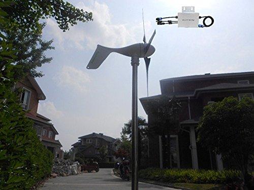 Wind Turbine Generator + Controller + Wasserdicht Grid Tie Inverter ()