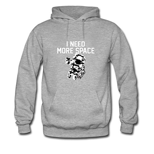 HKdiy I Need More Space Custom Classic Men Hoodie Gray-1