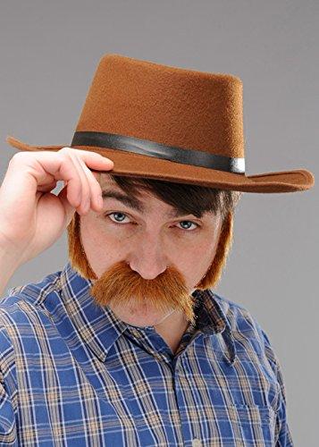 Kostüm Gunman Western - Herren Western Gunman Brown Cowboyhut