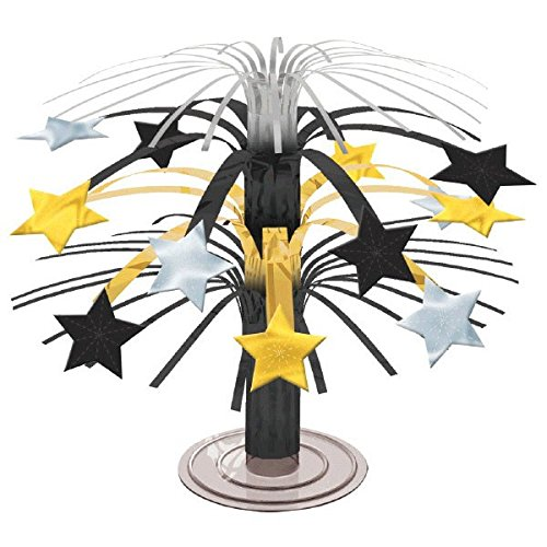 Stars Party Kostüm Hollywood - amscan 19 cm Hollywood-Stars Cascade Center Stück, schwarz und Gold