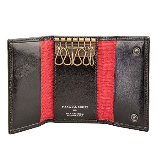 Maxwell Scottù Luxury Italian Leather Men's Key Holder Wallet (Lapo),