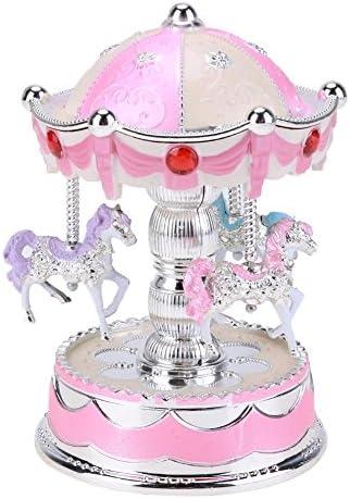 Asiproper roFemmetique Couronne Boîte à musique Émettant Clockwork Clockwork Clockwork Carrousel Kid Boîte de cadeau d'anniversaire | Moelleux Et Léger  5d3376