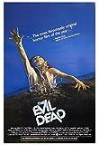 Close Up Evil Dead Poster (68,5cm x 101,5cm) + 2 St. Schwarze Posterleisten mit Aufhängung