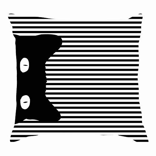 tuyi pop Art cat stripedThrow Pillow Covers Cotton Linen Cushion Cover Cases Pillowcases Sofa Home Decor 18
