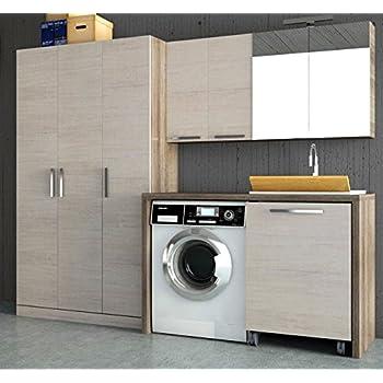 Dafnedesign.com - Mobile lavanderia con lavatoio porta lavatrice e ...