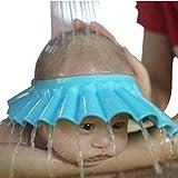 Xiton sichere Shampoo-Dusche Badeschutz Soft-Kappe für Kleinkind-Baby-Kind halten Das Wasser aus dem Augen-Gesicht (blau)