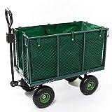 Izzy Gartenwagen Transportwagen 300kg Plane, klappbare Seitenteile, Luftbereifung