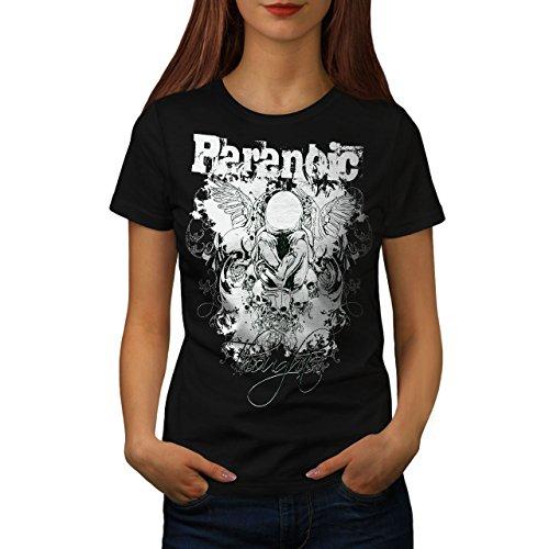 Paranoic Horror Mode para Schädel Frau XL T-shirt | Wellcoda (Tee Baby Flügel)