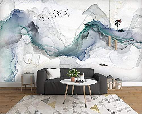 Benutzerdefinierte Tapeten-Wandbild Neue Seidentuchkunst Abstrakte Tinte Landschaft Hintergrund Dekorative 3d Tapete 350cmx496cm - 350 Tinte