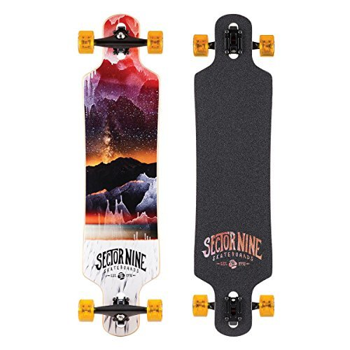 Sector 9 Meridian Complete Skateboard, Red by Sector 9
