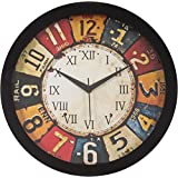 IT2M 11.75 Inches Designer Round Wall Clock With Glass For Home / Kitchen / Living Room / Bedroom (9003)