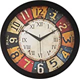 #3: IT2M Round Plastic Wall Clocks (30 cm x 30 cm x 4 cm, Black, JIN18)