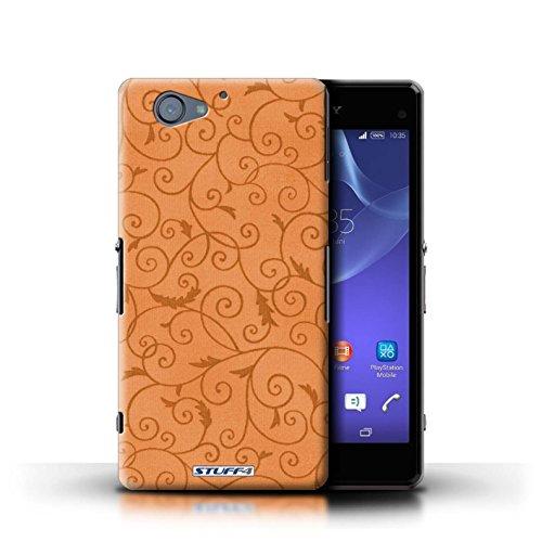 Kobalt® Imprimé Etui / Coque pour Sony Xperia A2 / Turquoise conception / Série Motif de la vigne Orange