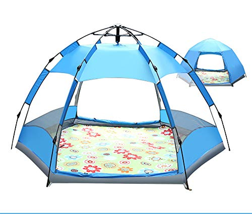 TFGY Zelt, 3-5 Personen-Campingzelt - Automatische Schnellöffnung - Sechseckzelt - Outdoor-Ausrüstung