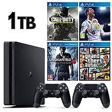 SONY PS4 SLİM 1TB OYUN KONSOLU + 2. PS4 KOL + 4 ADET PS4 OYUNU