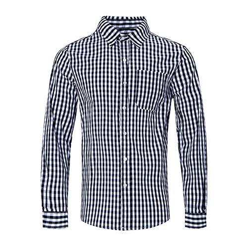 - Knopf-manschette-button-down-hemd (RAISEVERN Herren Langarm Baumwoll Wochenendhemden Hemd mit Knöpfen Schwarz)