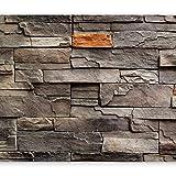 murando - Fototapete Steine 350x245 cm - Vlies Tapete - Moderne Wanddeko - Design Tapete - Wandtapete - Wand Dekoration - Stein Steinoptik Mauer f-B-0063-a-c