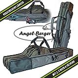 Luxus Rutentasche Rutenfutteral viele Modelle verschiedene Längen (4 Fächer 1.30m)