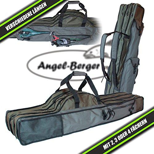Luxus Rutentasche Rutenfutteral viele Modelle verschiedene Längen (4 Fächer 1.70m)