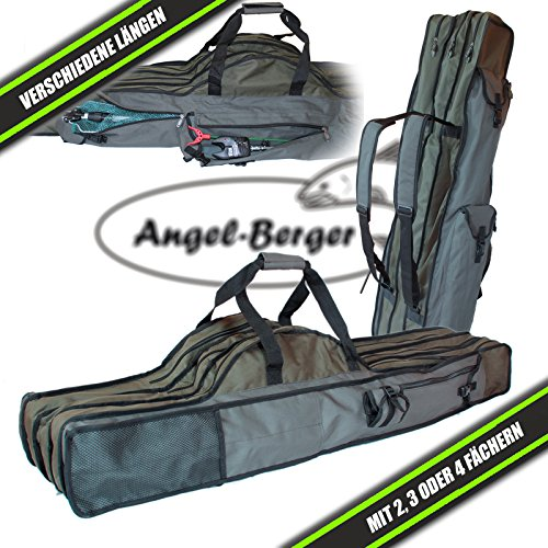 futteral angel Luxus Rutentasche Rutenfutteral viele Modelle verschiedene Längen (4 Fächer 1.50m)
