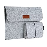 "dodocool 13.3 pulgadas Funda de fieltro para Macbook con Bolsa de ratón para Apple 13"" MacBook Air / 13"" MacBook Pro / 13"" MacBook Pro con Retina Pantalla y otros tablets de 13-13.3 pulgadas"