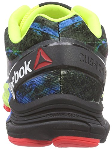 Reebok Lths One Cushion 3, Chaussures de running homme - Multicolore Multicolore (Yellow/Cherry/Blue/G)