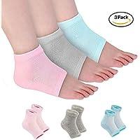 Con ventilación Hidratante Gel talón calcetines dedos abiertos pies cuidado conjuntos Ultimate Tratamiento para secado duro agrietada piel con Spa calidad Botánico Gel Pack de 3pares