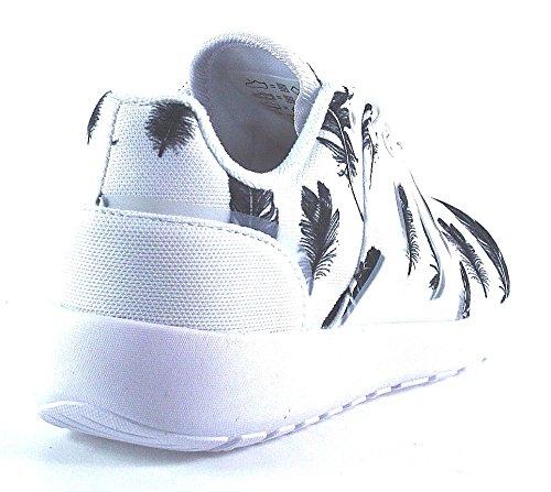 Basket Asfvlt Super Tech Black Feather Blanc