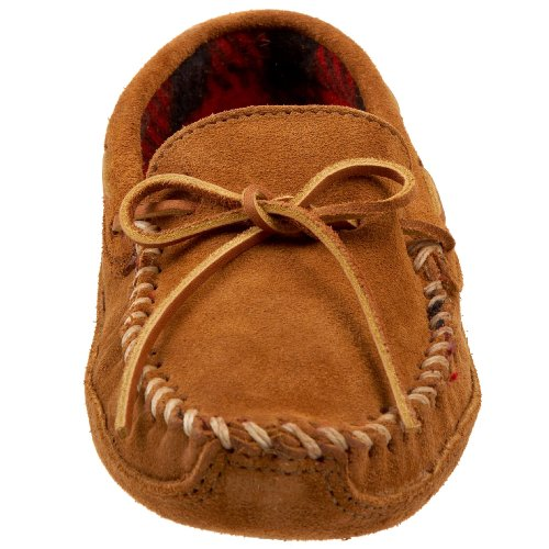 Minnetonka Double Bottom Fleece, Mocassins Homme Marron (Brown)