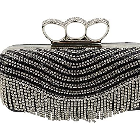 Da Wu Jia Ladies borsetta di alta qualità di lusso diamanti donne infiorescenza staminifera frizione/formale / evento/festa di nozze / sera Borsa/borsa/borse/Eveningbags/vetro/pietra/fiocco , golden