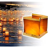 747012 Pack 5 flotantes lámparas con vela incluida quadrata. MWS tea light