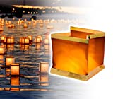 747012 Pack 5 Lanterne galleggianti con candela tea light inclusa quadrata. MWS