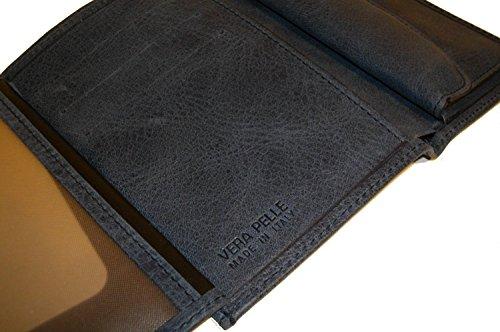 Portafogli, porta documenti verticale,con portamonete. Pelle 100% Made in Italy. Pelle di pregio, rifiniture artigianali. Colore Blu (o Marrone su richiesta)