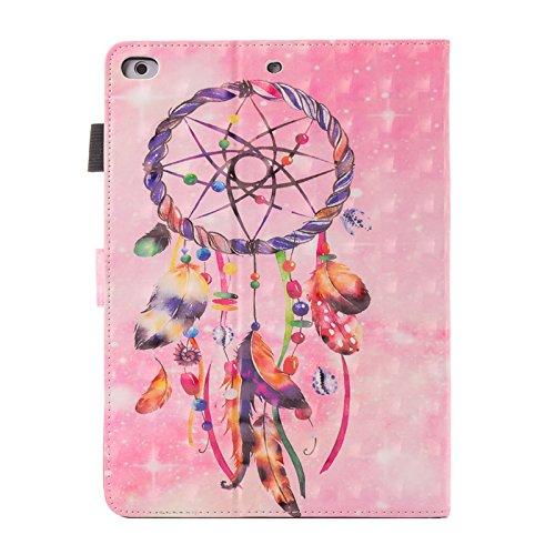 inShang iPad Hülle Schutzhülle für iPad iPad pro 10.5, PU Leder, Ständer Etui Tasche Smart Case Cover für ipad iPad pro 10.5 inch mit Automatische Einschlaf/Aufwach + inShang Logo hochwertigen Stylus  Pink background Dreamcatcher