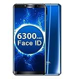 Oukitel K6 Smartphone 4G Téléphone Portable Débloqué (Écran: 6 Pouces HD Rapport d'Aspect 18:9 - 6 Go + 64 Go - Face ID Fingerprint - 6300mAh charge rapide - Avant 13 + 8MP Retour 21 + 8MP 4 Caméras - Android 7.0 - Double SIM)