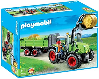 Granja Tractor Con Tráiler de Playmobil (626603)